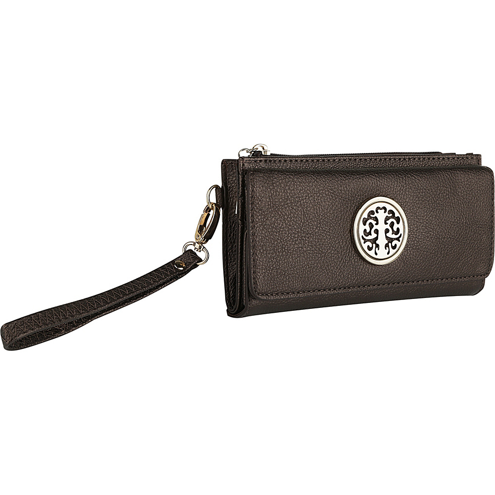 MKF Collection by Mia K. Farrow Audrina Tri-Fold Wristlet Bronze - MKF Collection by Mia K. Farrow Womens Wallets - Women's SLG, Women's Wallets