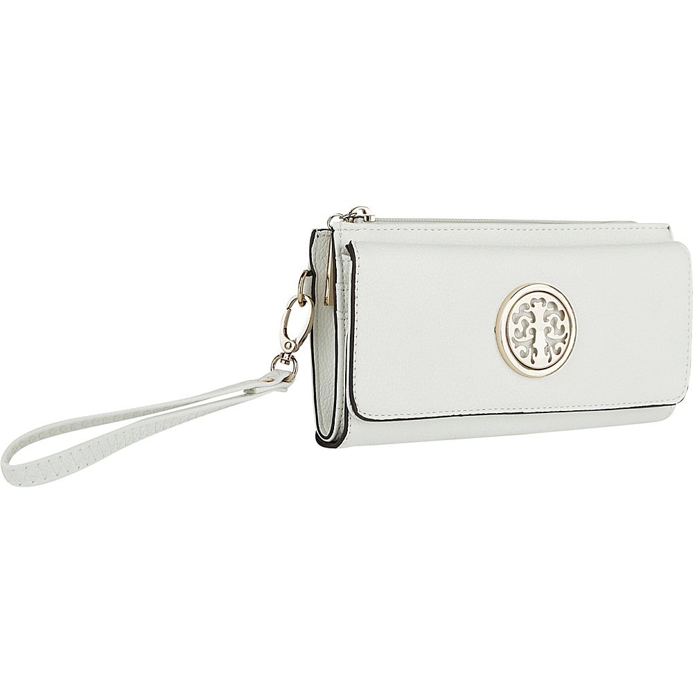 MKF Collection by Mia K. Farrow Audrina Tri-Fold Wristlet White - MKF Collection by Mia K. Farrow Womens Wallets - Women's SLG, Women's Wallets