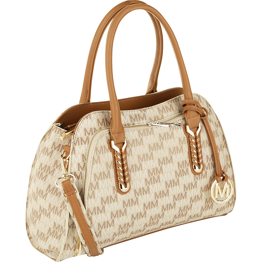 MKF Collection by Mia K. Farrow Milan Fancy Melissa M Signature Tote Beige - MKF Collection by Mia K. Farrow Manmade Handbags - Handbags, Manmade Handbags
