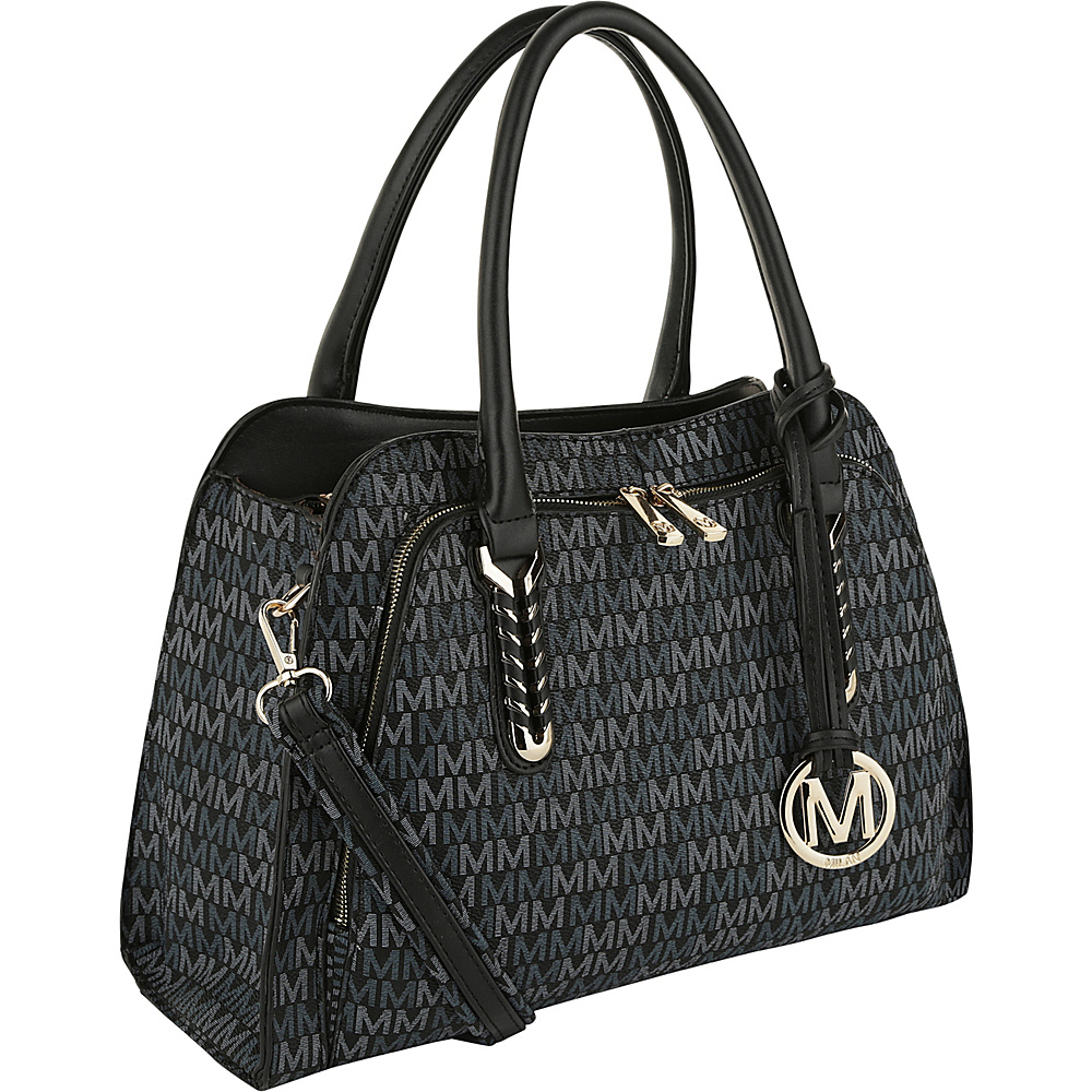 MKF Collection by Mia K. Farrow Milan Fancy Melissa M Signature Tote Black - MKF Collection by Mia K. Farrow Manmade Handbags - Handbags, Manmade Handbags