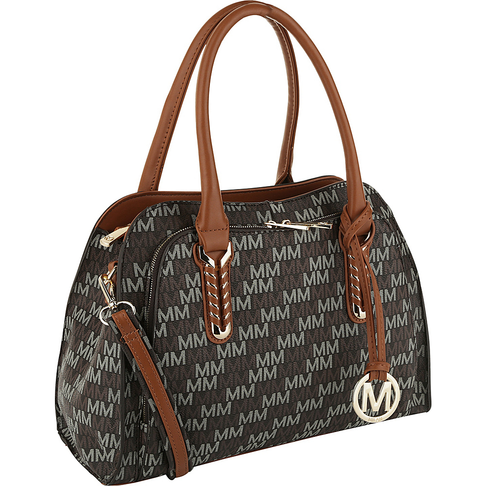 MKF Collection by Mia K. Farrow Milan Fancy Melissa M Signature Tote Brown - MKF Collection by Mia K. Farrow Manmade Handbags - Handbags, Manmade Handbags