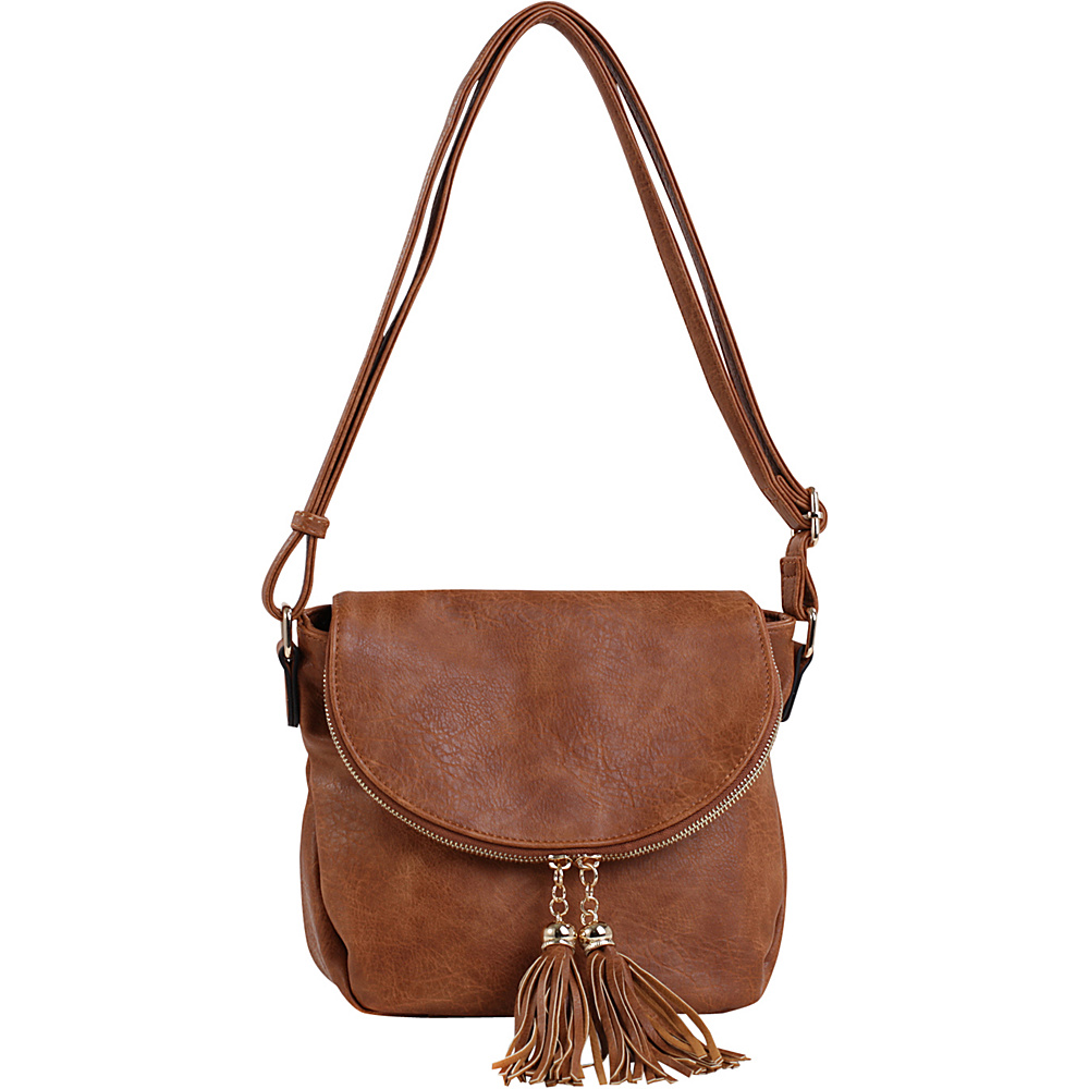 MKF Collection by Mia K. Farrow Mena Crossbody Brown - MKF Collection by Mia K. Farrow Manmade Handbags - Handbags, Manmade Handbags