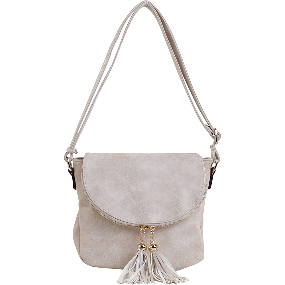 MKF Collection by Mia K. Farrow Mena Crossbody Beige - MKF Collection by Mia K. Farrow Manmade Handbags - Handbags, Manmade Handbags