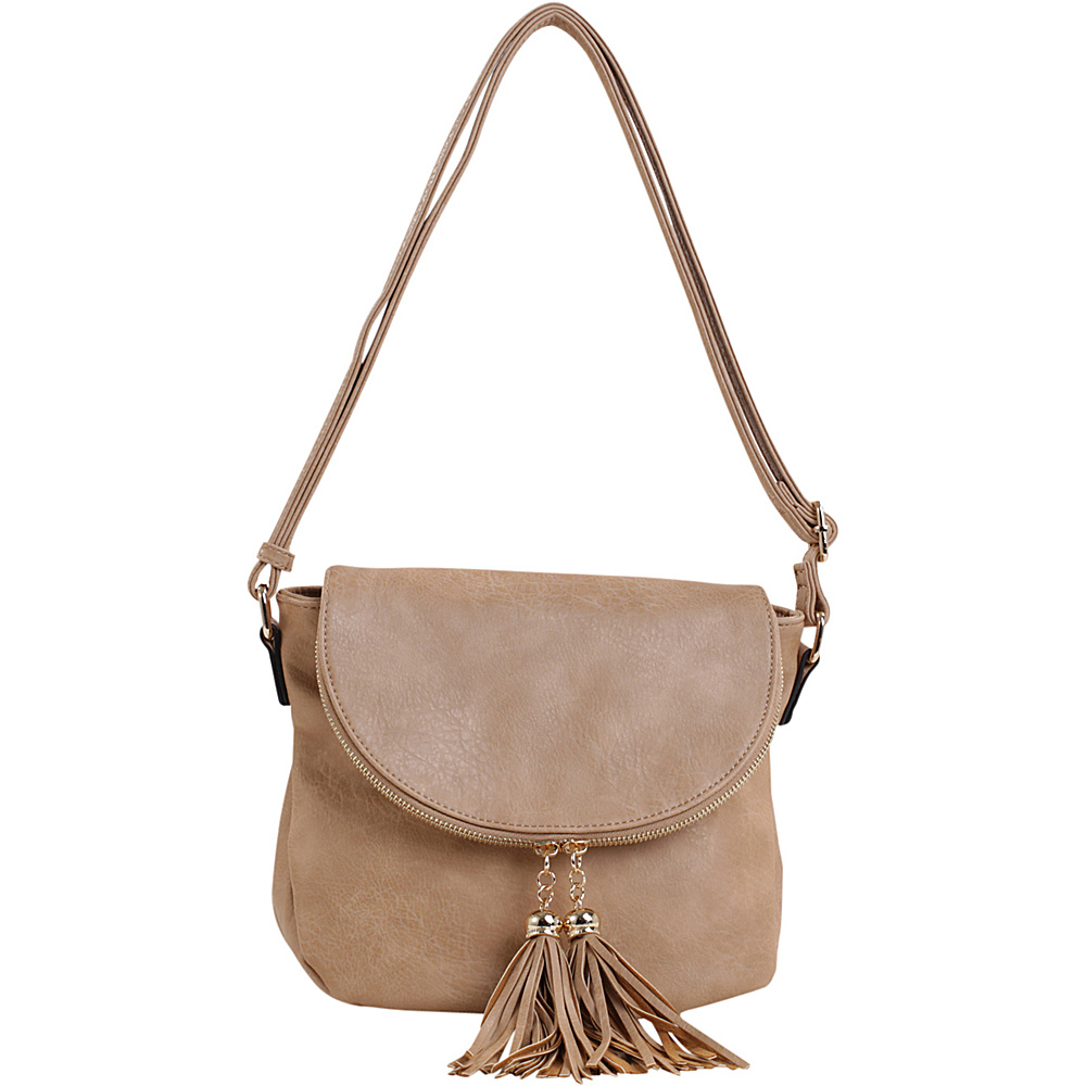 MKF Collection by Mia K. Farrow Mena Crossbody Tan - MKF Collection by Mia K. Farrow Manmade Handbags - Handbags, Manmade Handbags