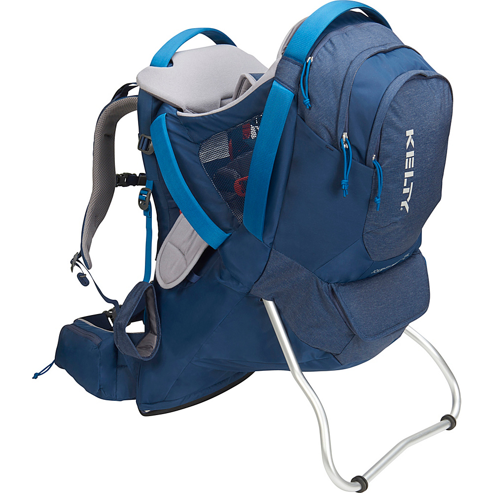 Kelty Journey PerfectFit Elite Backpack Child Carrier Insignia Blue - Kelty Baby Carriers Journey PerfectFit Elite Backpack Child Carrier Insignia Blue. Completely redesigned for 2018 with feedback from parents around the country, the new Kelty Child carriers offer best in class features and comfort. Developed with a pediatric specialist, our 5-point safety harness features a wide seat base and adjustable foot stirrups to offer proper positioning of the childs legs for health and all-day comfort.