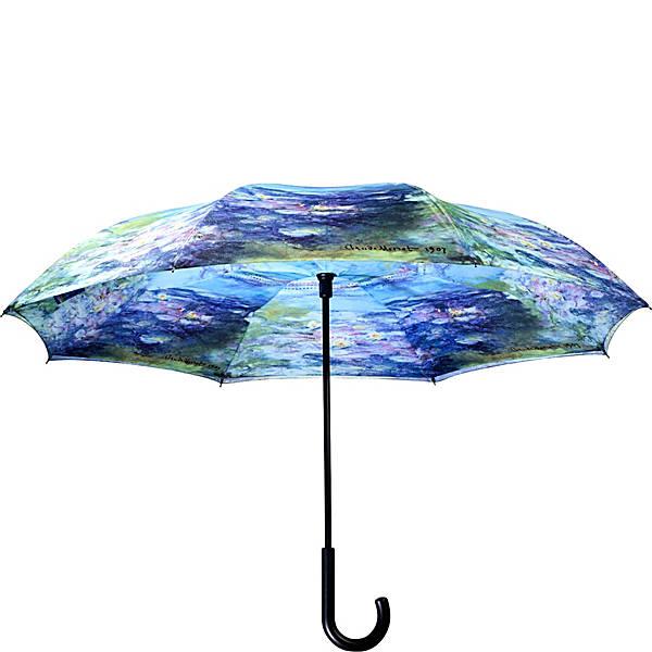 Galleria Monet Water Lilies Reverse Close Umbrella Ebags Com