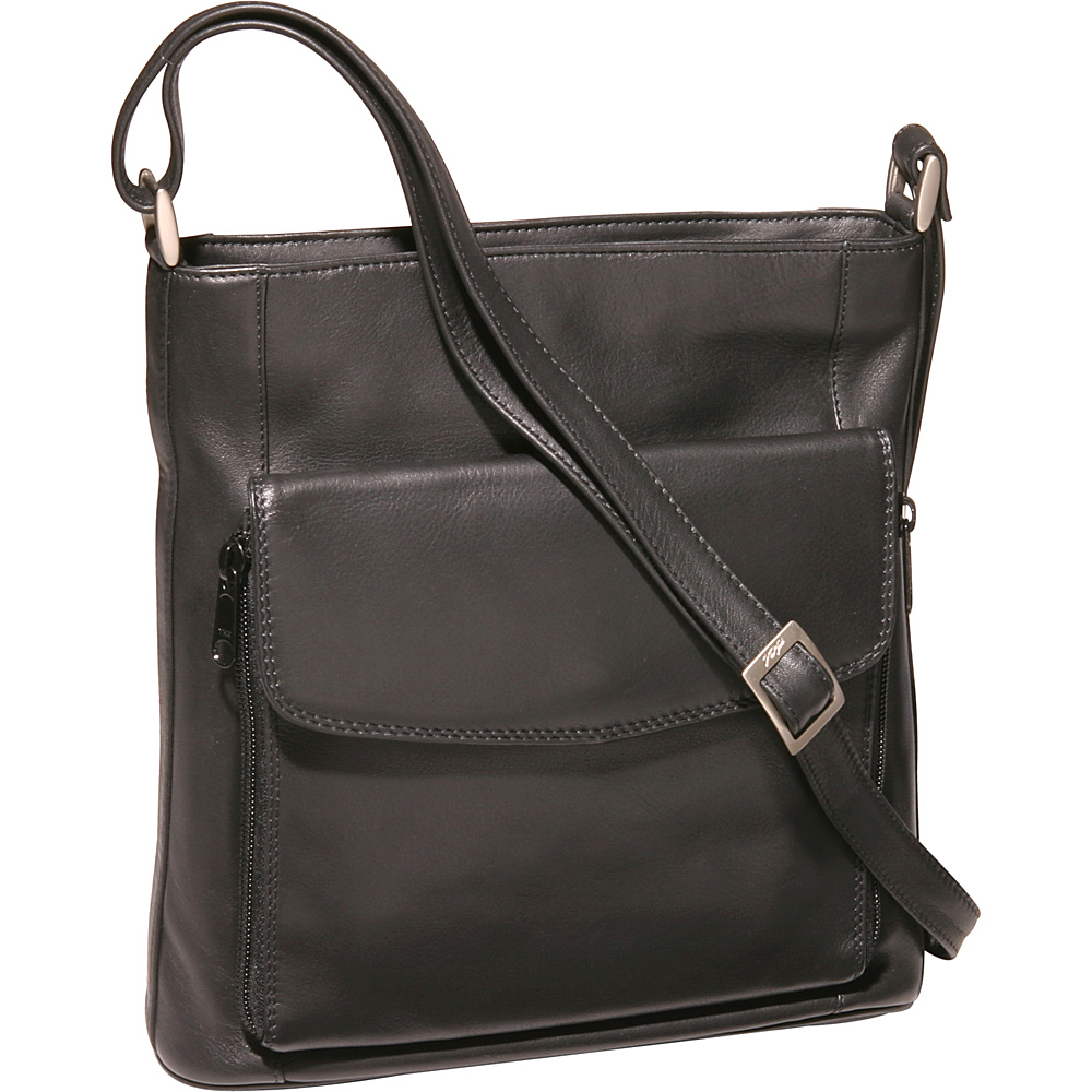 Derek Alexander N/S Top Zip Organizer - Black - Handbags, Leather Handbags