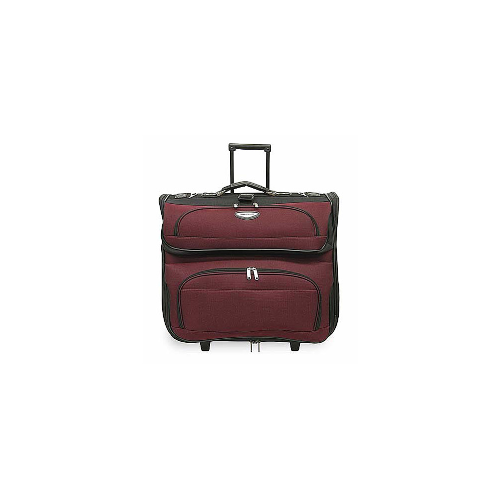 Traveler's Choice Amsterdam Rolling Garment Bag Red - Traveler's Choice Garment Bags