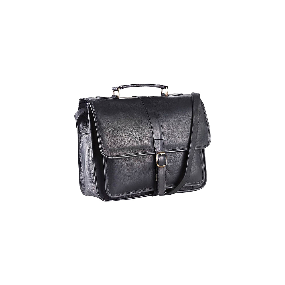 Clava Vachetta Leather School Bag - Vachetta Black - Work Bags & Briefcases, Non-Wheeled Business Cases