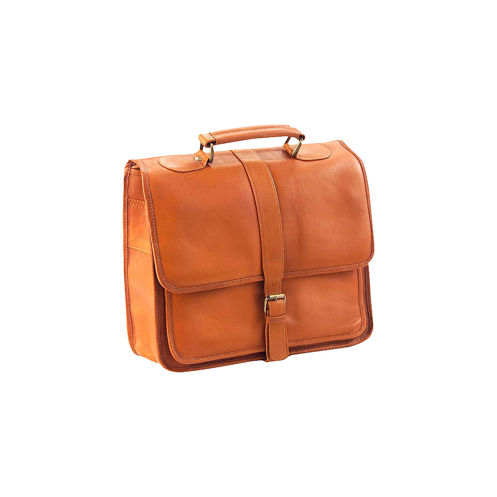 Clava Vachetta Leather School Bag - Vachetta Tan - Work Bags & Briefcases, Non-Wheeled Business Cases
