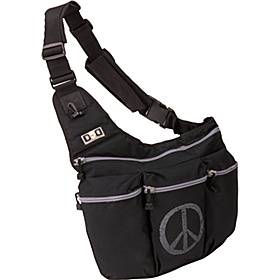 Black Diaper Bag with Peace Sign Black With Peace Sign