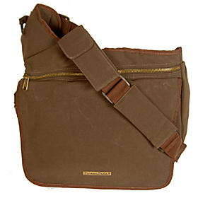 Faux Suede Diaper Bag  Brown