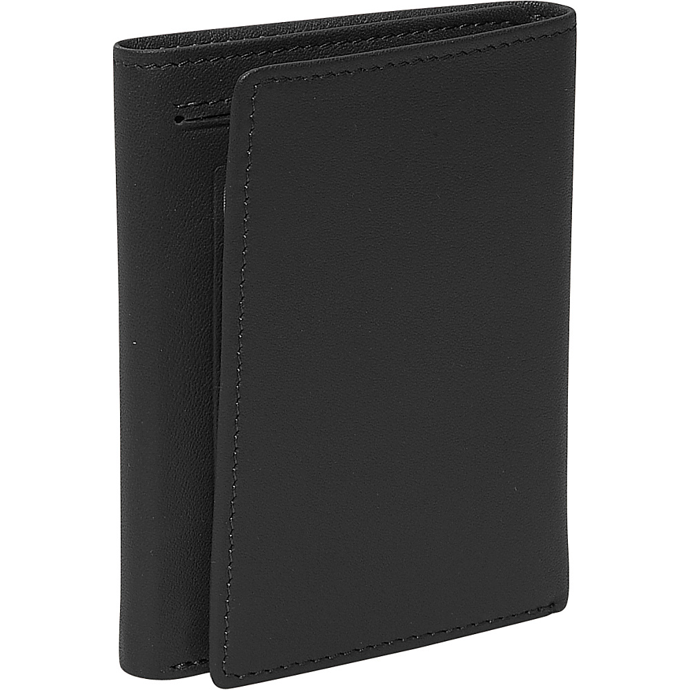 Royce Leather Mens Tri-Fold Id Wallet - Black - Work Bags & Briefcases, Men's Wallets