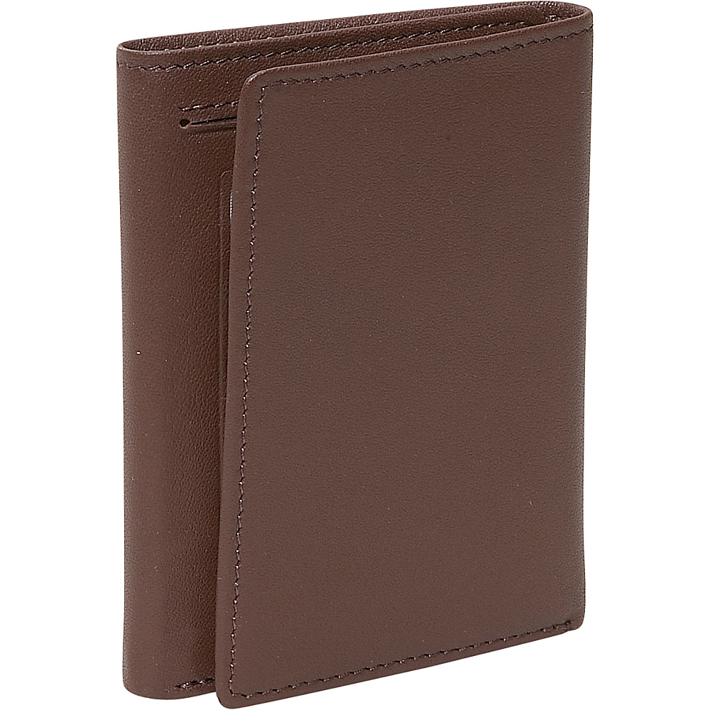 Royce Leather Mens Tri-Fold Id Wallet - Coco - Work Bags & Briefcases, Men's Wallets