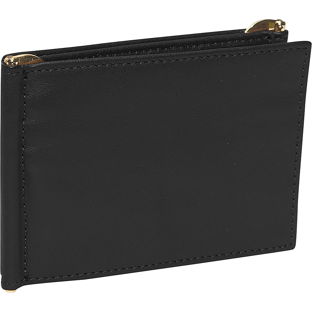 Royce Leather Mens Double Money Clip - Black - Work Bags & Briefcases, Men's Wallets