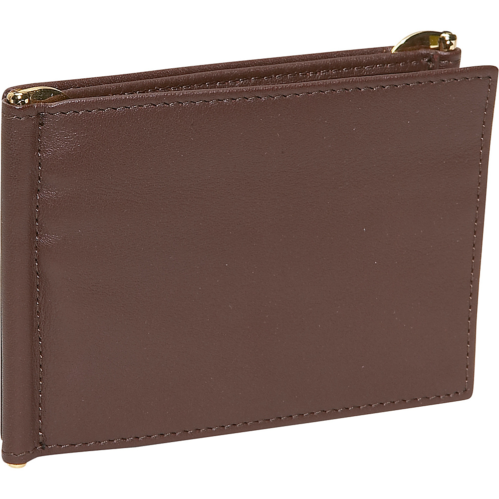 Royce Leather Mens Double Money Clip - Coco - Work Bags & Briefcases, Men's Wallets