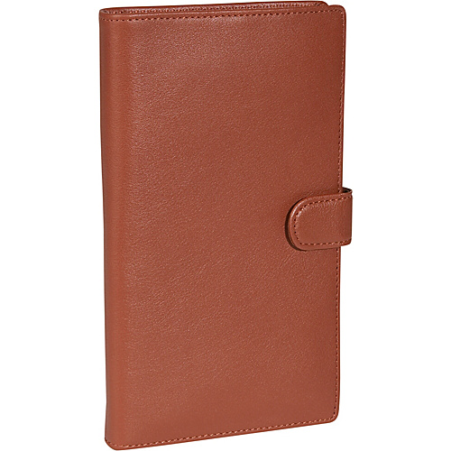 Royce Leather Deluxe Passport & Travel Case - Tan