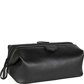 Leather Toiletry Bag Black