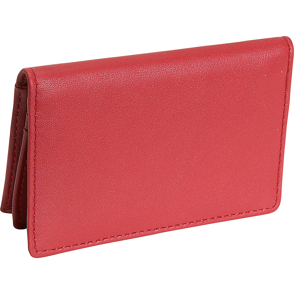 Royce Leather Deluxe Card Holder - Red - Work Bags & Briefcases, Business Accessories