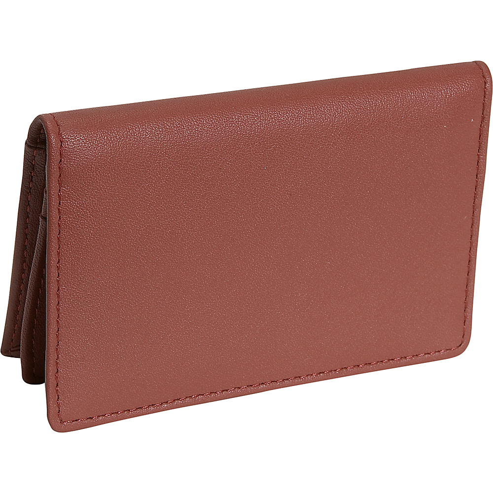 Royce Leather Deluxe Card Holder - Tan - Work Bags & Briefcases, Business Accessories