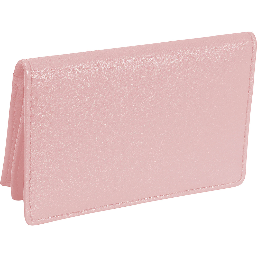 Royce Leather Deluxe Card Holder - Carnation Pink - Work Bags & Briefcases, Business Accessories