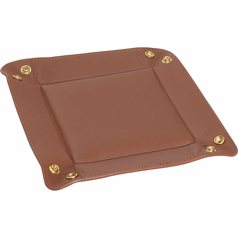 Royce Leather Travel Valet Tray - Tan - Work Bags & Briefcases, Business Accessories
