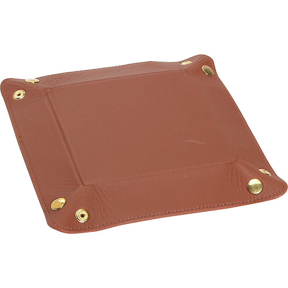 Royce Leather Travel Valet Tray - Tan