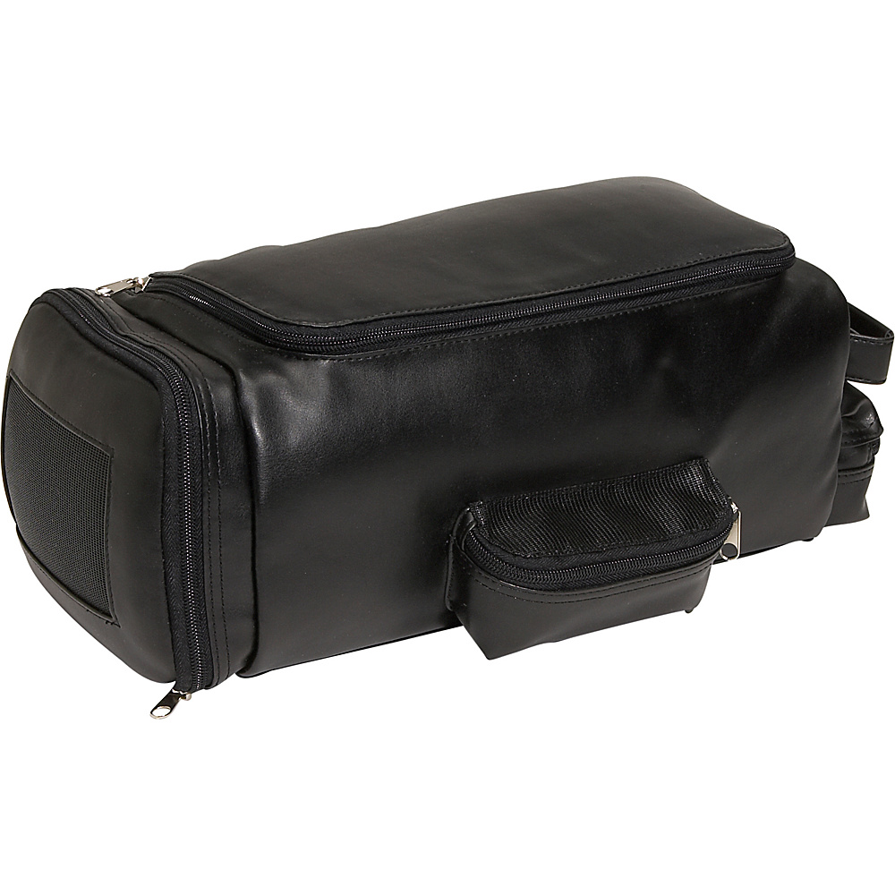 Royce Leather Golf Shoe & Accessory Bag - Black - Sports, Sports Accessories
