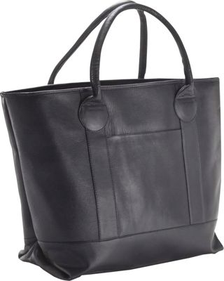 Clava Nantucket Tote Vachetta Black - Clava Leather Handbags