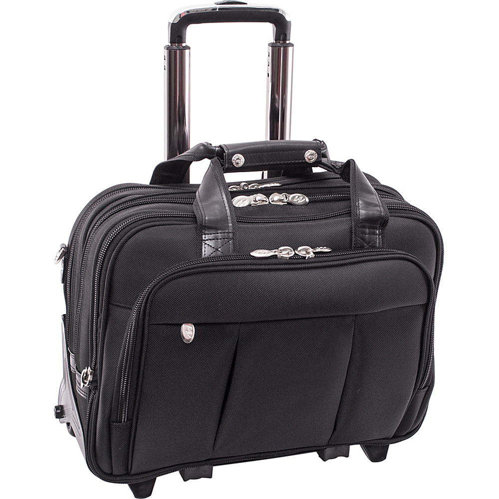 McKlein USA Damen Nylon Wheeled 17 Laptop Case - Black - Work Bags & Briefcases, Wheeled Business Cases