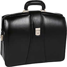 Harrison Leather 17'' Laptop Partner's Brief Black