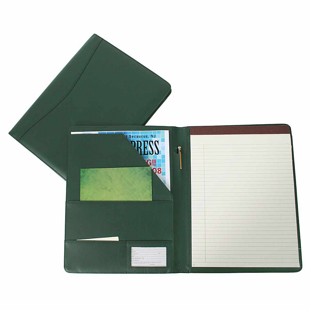 Royce Leather Padfolio - Green - Work Bags & Briefcases, Business Accessories