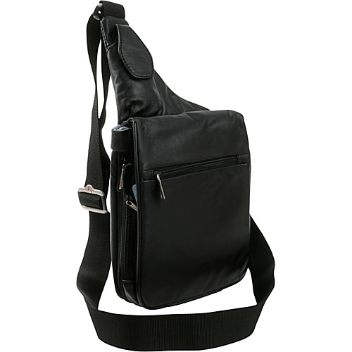 Travelon Leather Expandable Shoulder Bag - Shoulder Bag