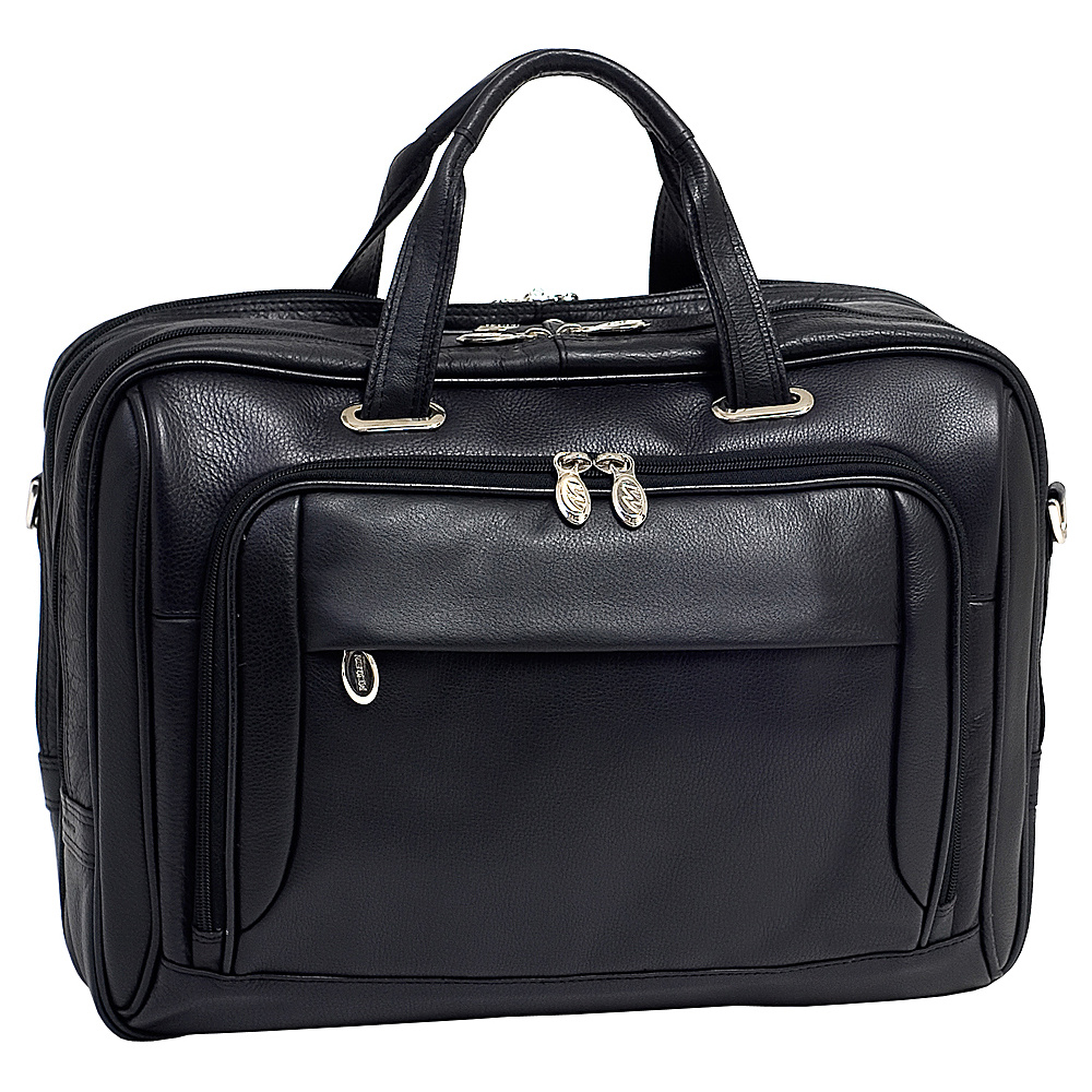 McKlein USA West Loop Leather 17 Laptop Case - Black - Work Bags & Briefcases, Non-Wheeled Business Cases