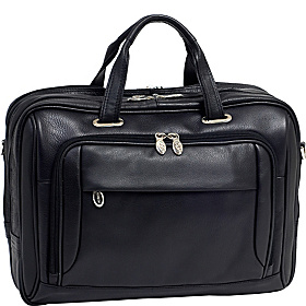 West Loop Leather 17'' Laptop Case Black