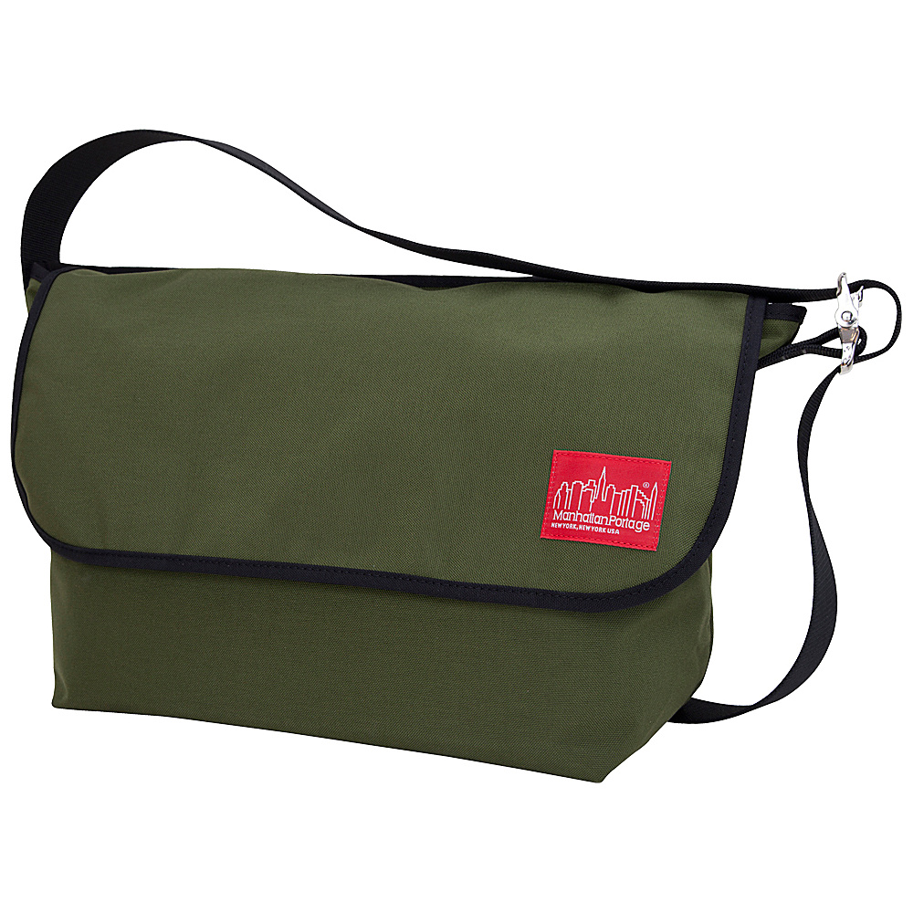 Manhattan Portage Vintage Messenger Bag - Large - Olive - Work Bags & Briefcases, Messenger Bags