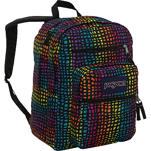 JanSport Big Student Pack Backpack Black/Multi Reptile - Backpacks, School & Day Hiking Backpacks