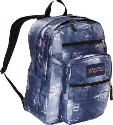 ... Pack Multi Distressed Denim - JanSport School & Day Hiking Backpacks