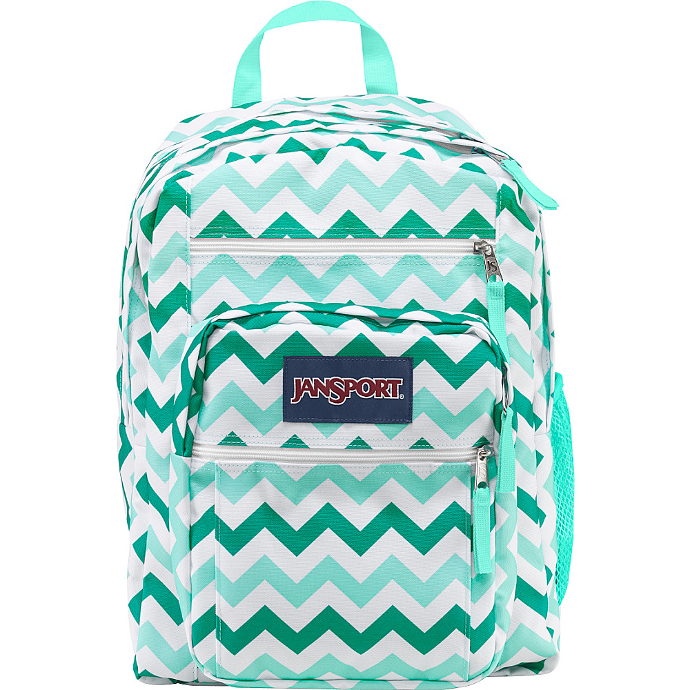 JanSport Big Student Backpack Aqua Dash Zou Bisou - JanSport School & Day Hiking Backpacks - Backpacks, School & Day Hiking Backpacks