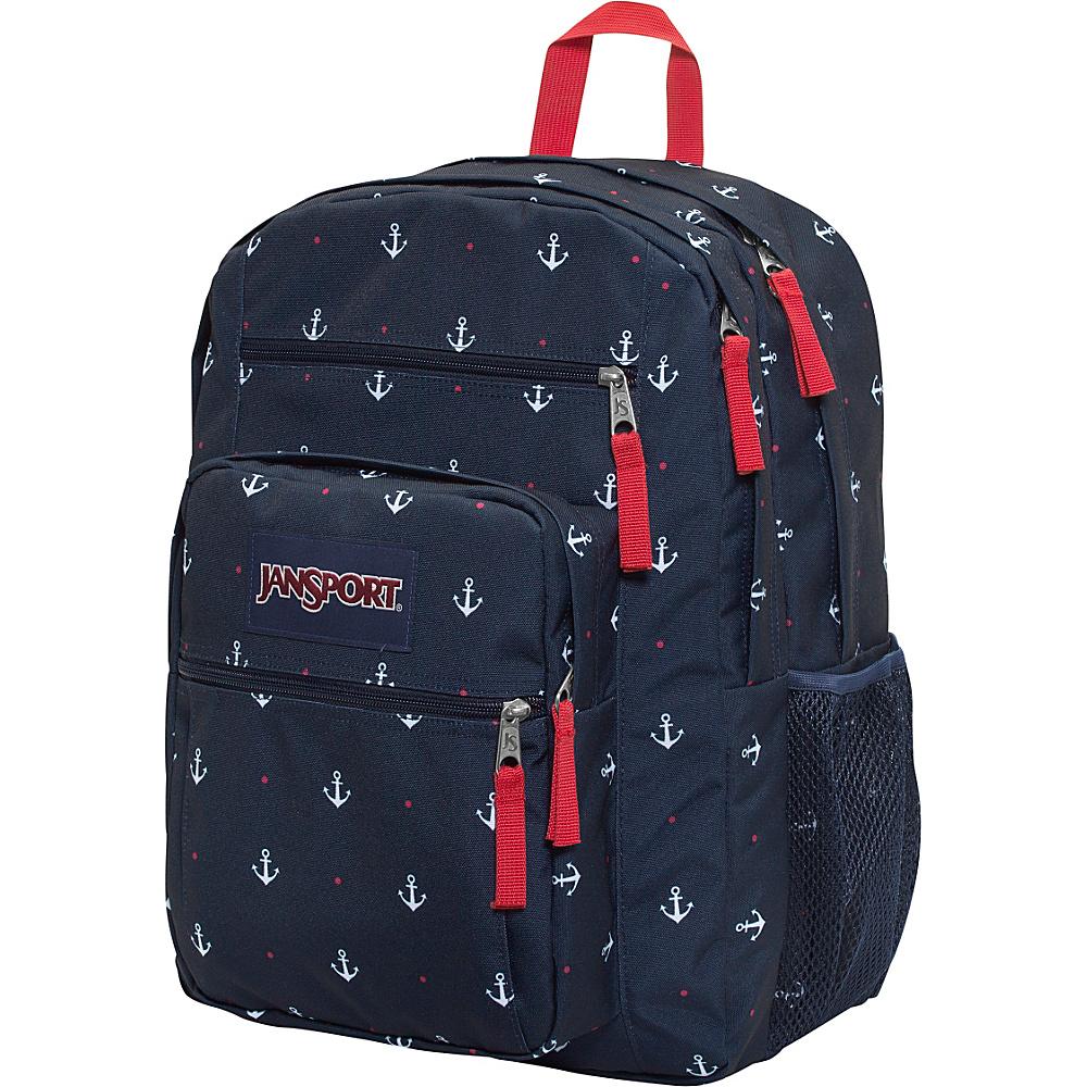 JanSport Big Student Backpack Red Tape / Land Ahoy - JanSport Everyday Backpacks - Backpacks, Everyday Backpacks
