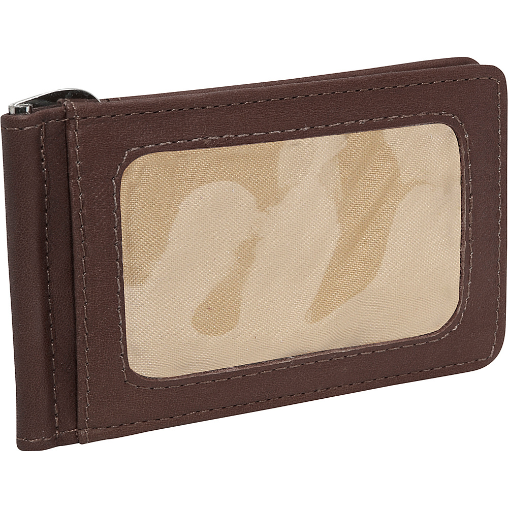 Piel Money Clip - Chocolate - Work Bags & Briefcases, Men's Wallets