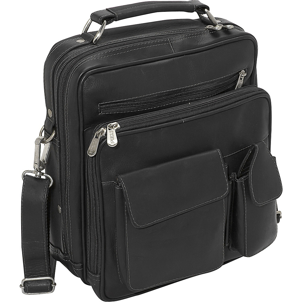 Piel Deluxe Mens Bag - Black - Work Bags & Briefcases, Other Men's Bags