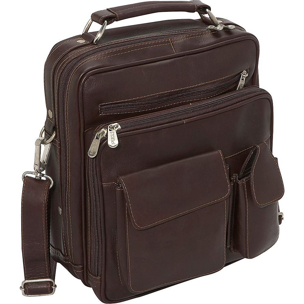 Piel Deluxe Mens Bag - Chocolate - Work Bags & Briefcases, Other Men's Bags