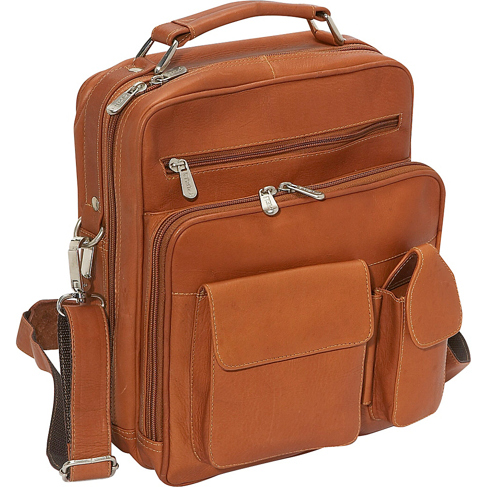 Piel Deluxe Mens Bag - Saddle - Work Bags & Briefcases, Other Men's Bags