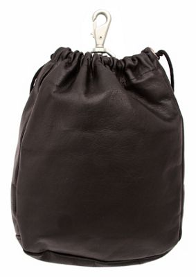Piel Large Drawstring Pouch - Chocolate