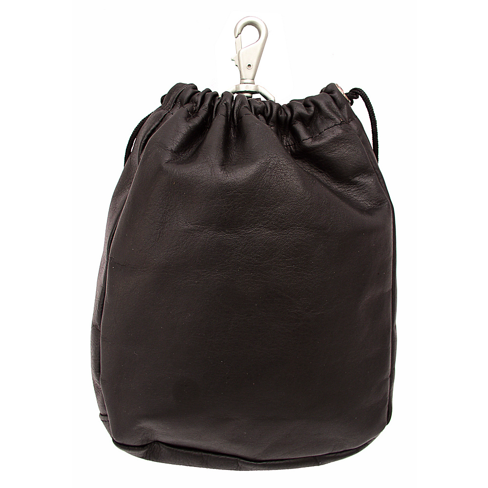 Piel Large Drawstring Pouch - Chocolate - Travel Accessories, Travel Organizers