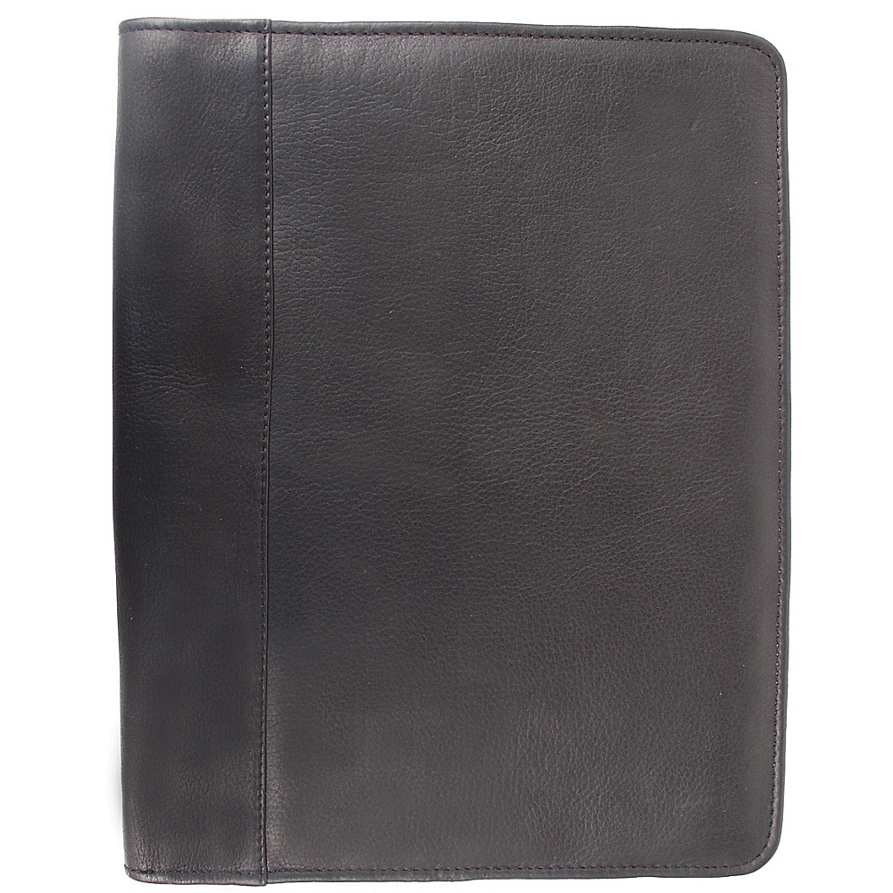 Piel Zippered Padfolio - Black - Work Bags & Briefcases, Business Accessories