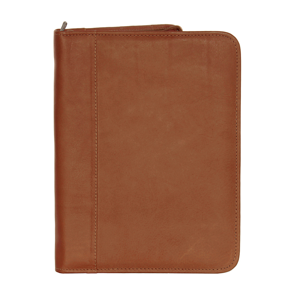 Piel Zippered Padfolio - Saddle - Work Bags & Briefcases, Business Accessories