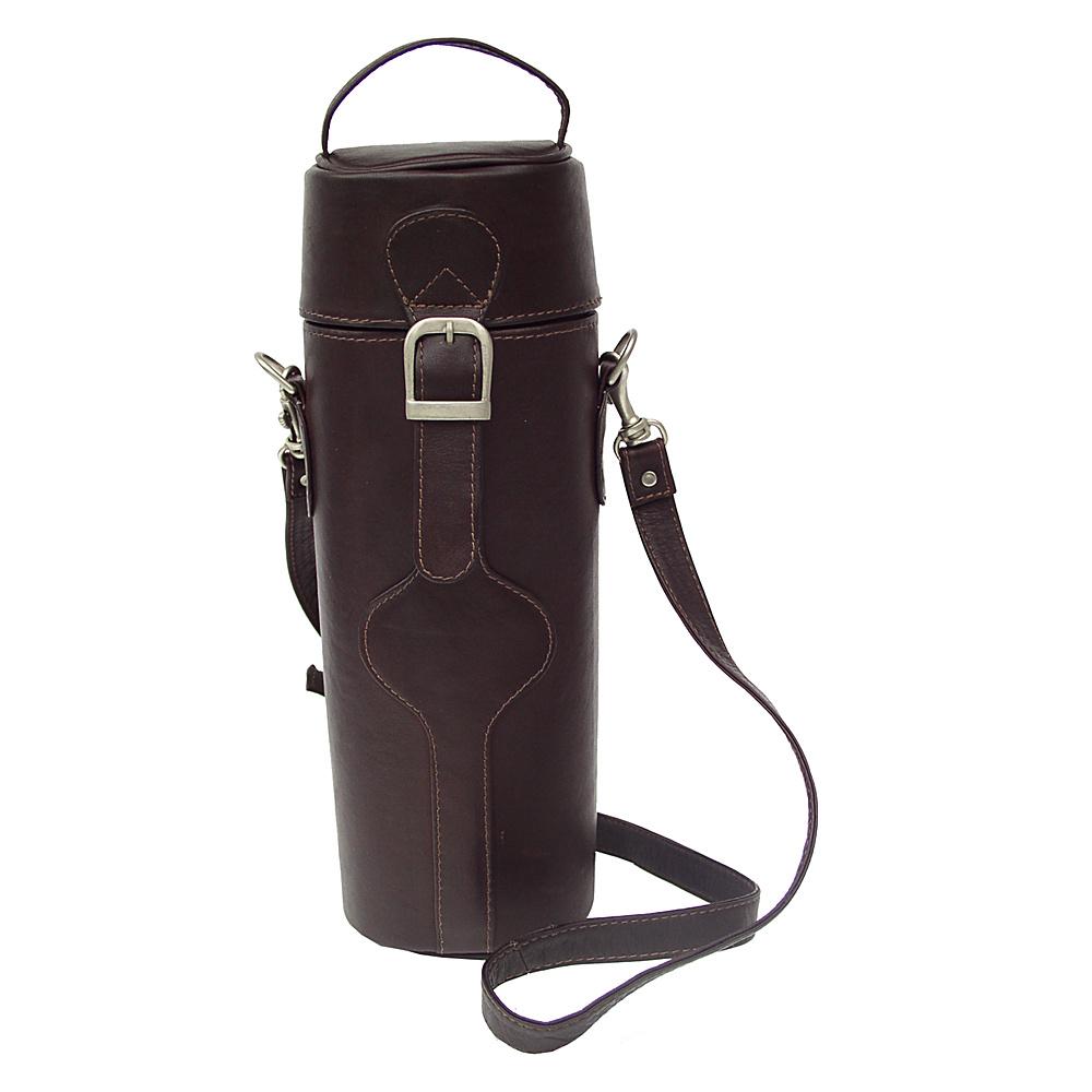Piel Single Deluxe Wine Tote Carrier - Chocolate - Outdoor, Outdoor Accessories