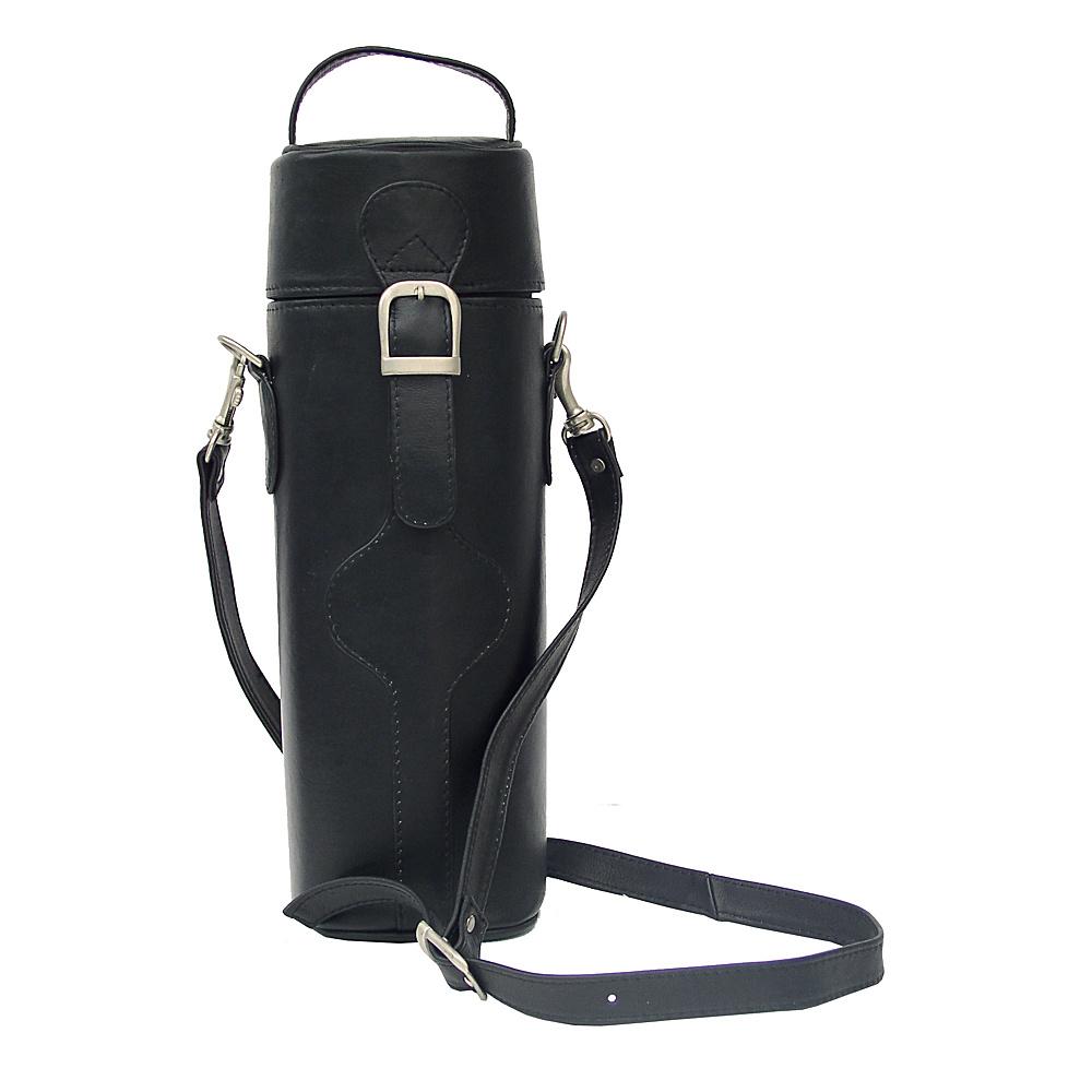 Piel Single Deluxe Wine Tote Carrier - Black - Outdoor, Outdoor Accessories